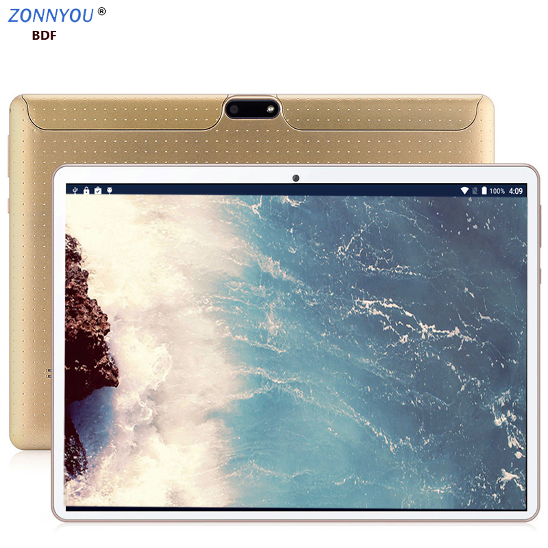 New System10.1- Inch Tablets PC 3G 4G Phone Call 6GB RAM 128GB ROM Android 8.0 Double SIM Card Octa Core IPS Wi-Fi Tablet PC
