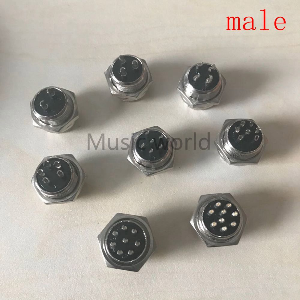 M/F type 2,3,4,<font><b>5</b></font>,6,7,8 9-<font><b>pin</b></font> chassis sockets connects Microphone Mic Plug <font><b>GX16</b></font> connectors Used on many CB Radios and Ham Radios image
