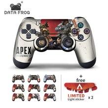 Données grenouille 2 pièces autocollants pour Apex légendes contrôleur peaux pour Sony PlayStation4 contrôleur de jeu pour PS4 Slim Pro autocollants
