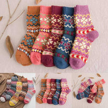 5 Pairs Unisex Winter Warmer Thicken Thermal Wool Cashmere Snow Socks Seamless Velvet Boots Floor Sleeping Socks(China)