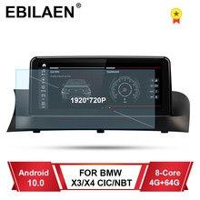 سيارة مشغل وسائط متعددة لسيارات BMW X3 F25 X4 F26 CIC NBT نظام أندرويد 10.0 وحدة الرأس الملاحة لتحديد المواقع 10.25 'شاشة IPS 4G