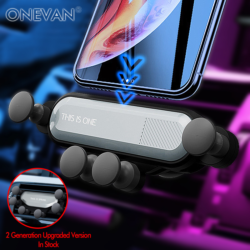 ONEVAN Gravity Car Phone Holder In Car Air Vent Clip Mount No Magnetic Mobile Phone Holder GPS Stand For IPhone Xiaomi Huawei