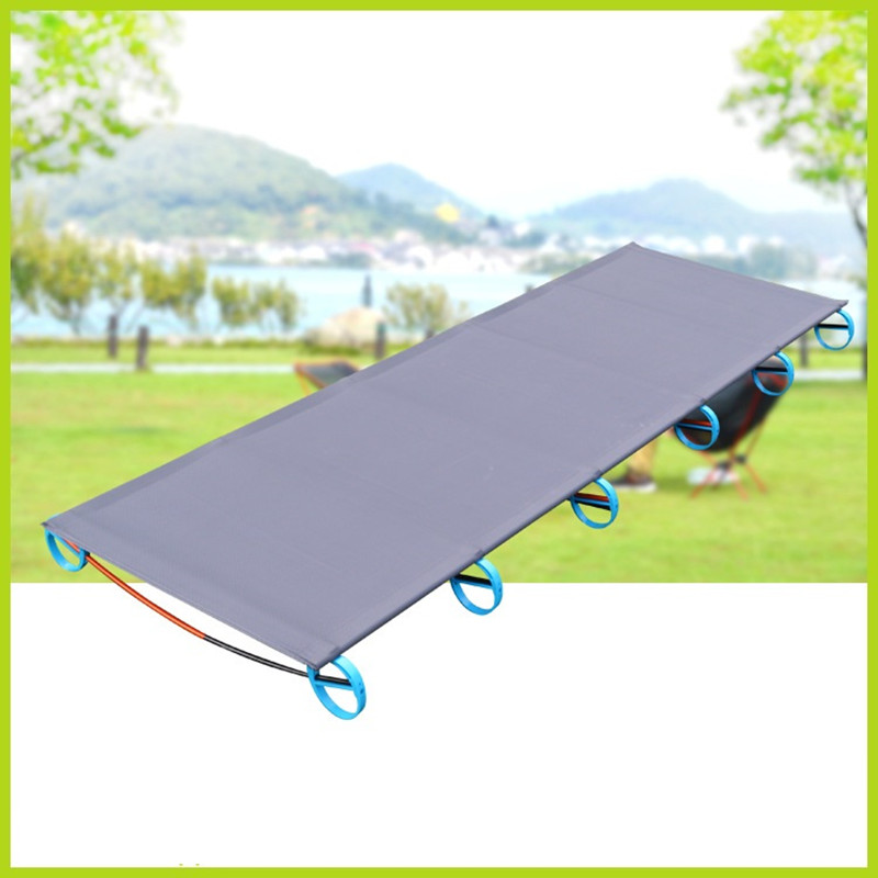 Portable Camping Folding Bed Outdoor Folding Bed Ultralight Single Bed 180cm Length