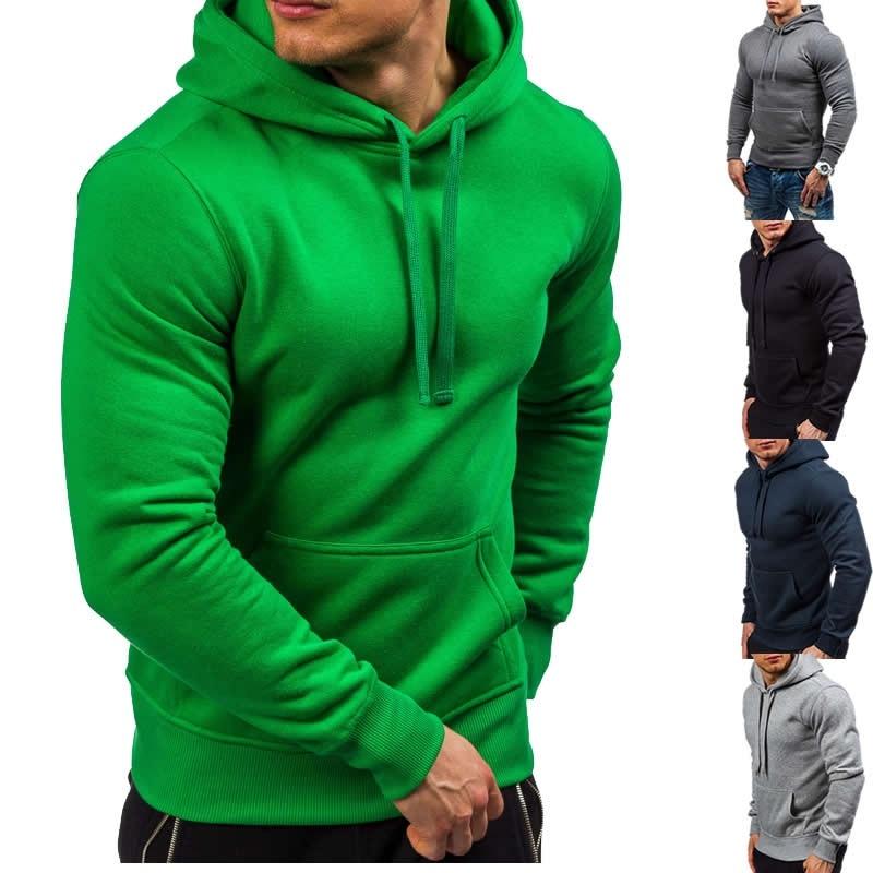 ZOGAA 2019 Spring Autumn Mens Hooded Sweatshirts With Big Pockets Long Sleeve Hoodies Fitness Sportswear Casual Fashion Hoodie