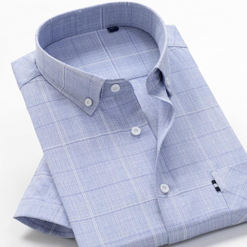 6XL 7XL 8XL 8XL 10XL big size summer striped shirt high quality comfortable cotton men's fashion casual loose short sleeve shirt 1