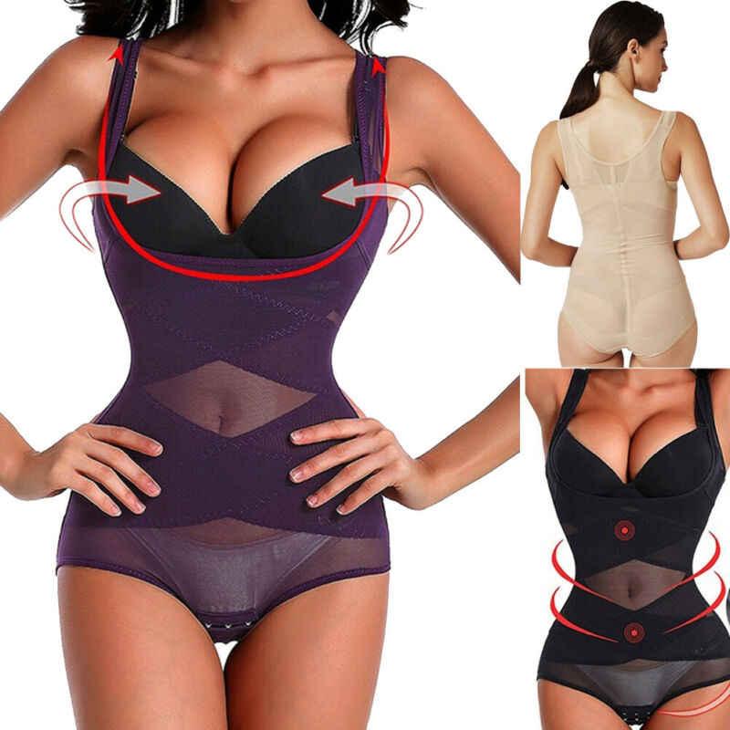 ควบคุม Body Shaper Jumpsuit เอวเทรนเนอร์ L-3XL Shapewear Plus ขนาด Underbust Tummy Shaper Corset Cincher Hot ขาย XXXL XL