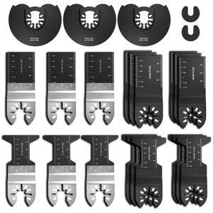 23pcs Multi-Function Precision Saw Blade Oscillating Multitool Saw Blade for Renovator Power Cutting Multimaster Tools
