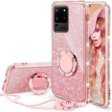 Diamond Case for Samsung Galaxy A71 A51 A91 A81 A21 A31 A01 A70 A50 A31 A21s S20 Ultra S10 Note 10 Plus Lite S10E Glitter Cover