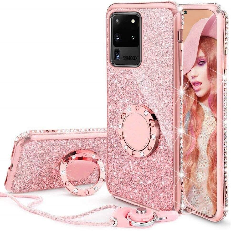 Diamond Case For Samsung Galaxy A71 A51 A91 A81 A21 A31 A01 A70 A50 A31 M30s S20 Ultra S10 Note 10 Plus Lite S10E Glitter Cover