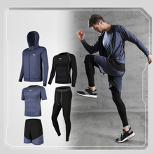 5 Pcs Mens Sportswear Running Track Suits Tracksuit Male Outdoor Suit Men Jogging Casual Sport