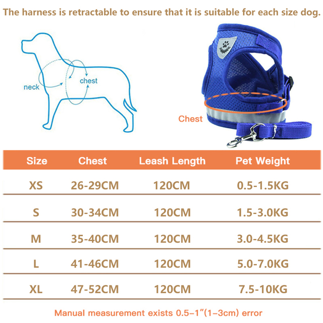 Soft and Comfortable Pet Harness with Leash for Cats & Dogs 6