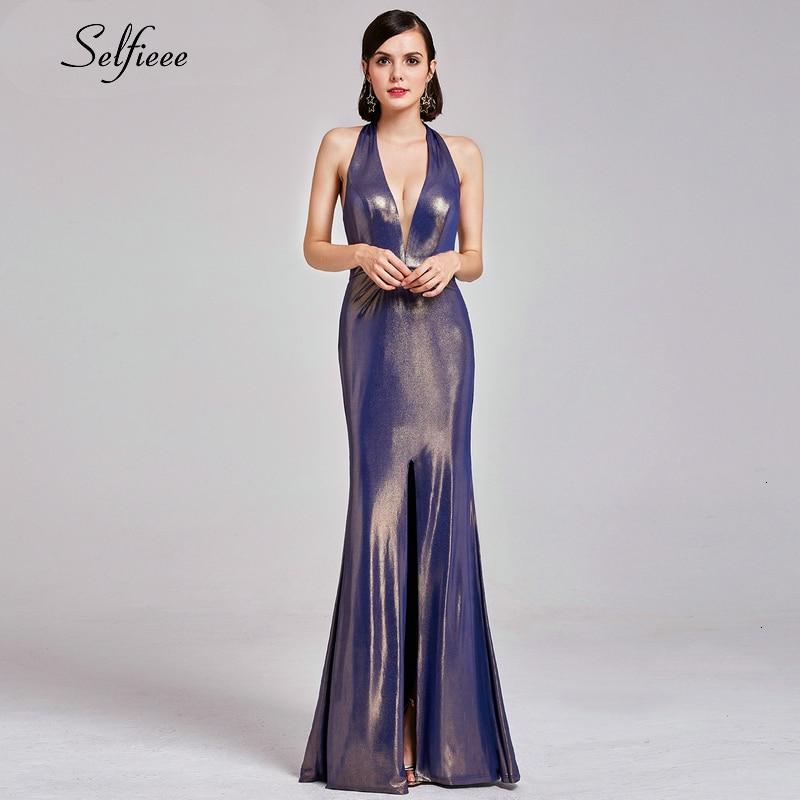 Laides robe De noël col en v profond sans manches fendu sirène robe De soirée Sexy mode vacances robe De fête Vestidos De Fiesta