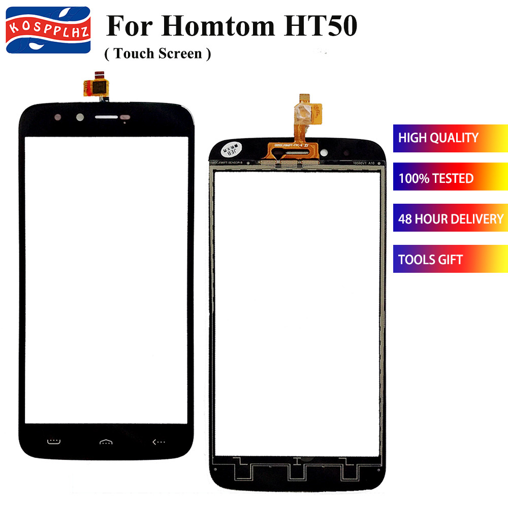 KOSPPLHZ For HOMTOM HT50 Touch Screen Glass 100% Guarantee New Glass Panel Touch Screen For HOMTOMHT50 HT 50 Cell phone Glass(China)