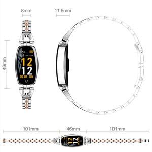 Image 5 - Lism H8 ساعة ذكية النساء 2019 مقاوم للماء رصد معدل ضربات القلب بلوتوث ل أندرويد سوار لياقة بدنية Smartwatch