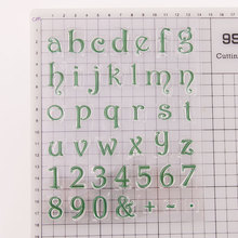 English Letter Digital Clear Stamps Silicone Transparent Seal Letters Pattern Stamp DIY Scrapbooking Photo Album Diary Craft handbook diary seal diy transparent seal color seal handbook album diary diy accessorieshandbook diary