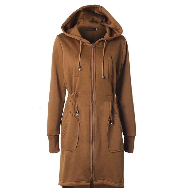 2020 теплое длинное пальто с меховым воротником, куртка с капюшоном для женщин, тонкая однотонная куртка с капюшоном, на молнии, с длинным