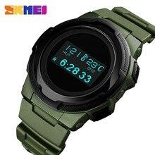 SKMEI montre numérique hommes multifonction Sport montres bracelets calcul de calories réveil boussole hommes montres montre homme 1439