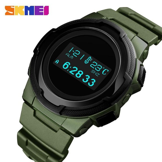 Skmei Digitale Horloge Mannen Multifunctionele Sport Horloges Calorie Berekening Wekker Kompas Heren Horloges Montre Homme 1439