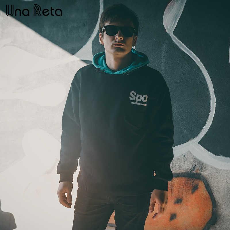Una Reta Hip hop Men Hoodies Sweatshirt Autumn Winter New Fleece Pullover Sweatshirts Mens Harajuku printing Casual Streetwear