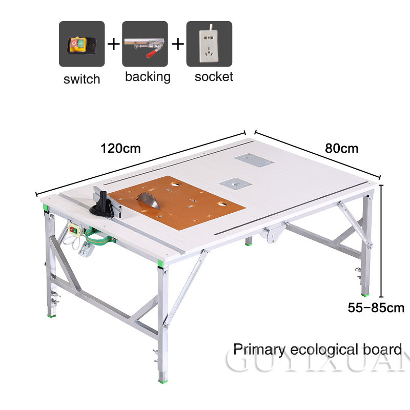Electric Woodworking Table Multifunctional Portable Workbench Small Table Saw Working Woodworking Table