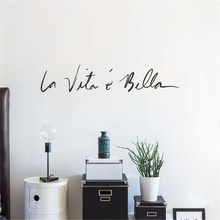 Скандинавский стиль, ПВХ, итальянские наклейки на стену, жизнь такая красивая, итальянские зеркала, ПВХ наклейки для дома, спальни, Настенный декор
