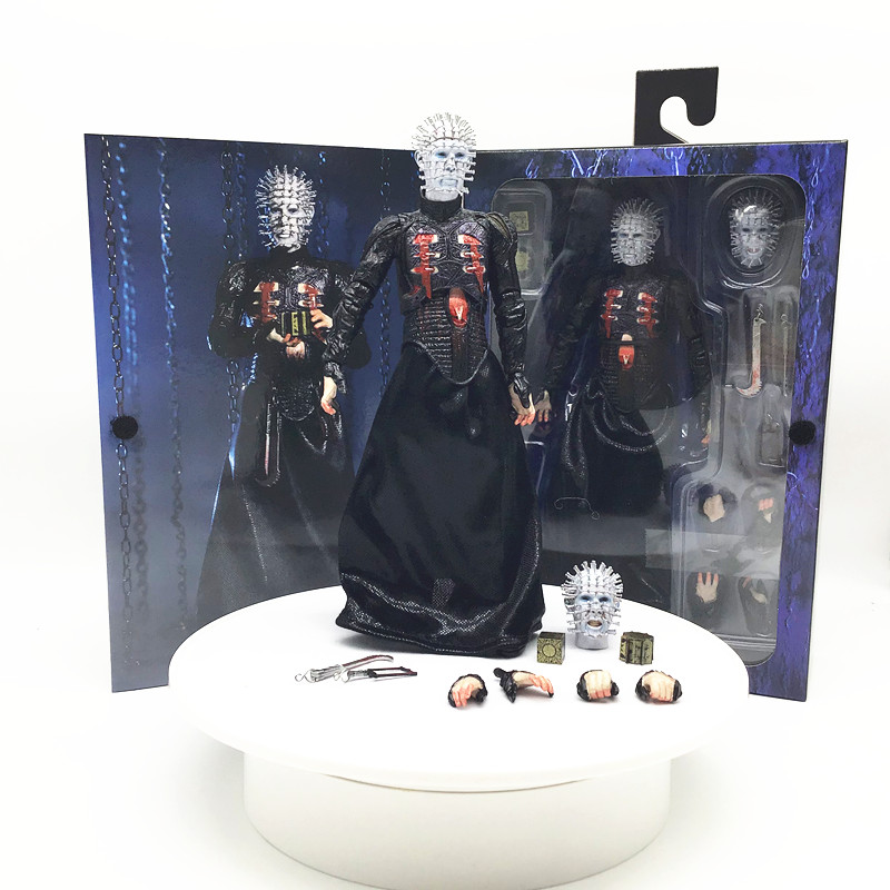 In Stock 18cm NECA Hellraiser He'll Tear Your Soul Apart Ultimate Pinhead Action Figures Collectable Model Toy Gifts Doll