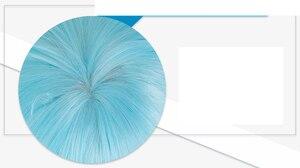 Image 5 - Biamoxer KonoSuba God's Blessing on This Wonderful World ! Cosplay Wigs KonoSuba Aqua Blue Long Straight Synthetic Hair Adult