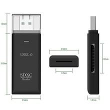 Универсальный 2 в 1 устройство для чтения карт USB 3,0 Plug-and-play компьютерные компоненты для ноутбуков SDHC/SDXC/MMC/Micro USB с нейлоновым T-FLASH карта памяти