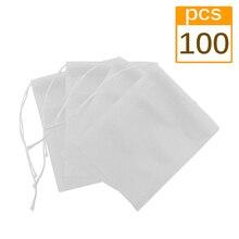 100 шт/партия одноразовые чайные пакеты с струной заживление уплотнения 5,5*7 см пакетик для чая пустые пакетики для чая для травяной листовой чай