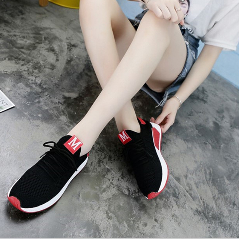 Lightweight Comfortable Lace-up Women's Shoes New Fashion Mesh Women's Vulcanize Shoes Casual Sneakers Zapatos Mujer VT657 (8)