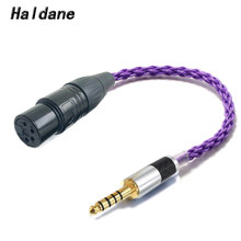 Haldane fibra de carbono de alta fidelidade 4.4mm masculino equilibrado para 4 pinos xlr fêmea equilibrada adaptador de áudio cabo 4.4mm para xlr conector cabo
