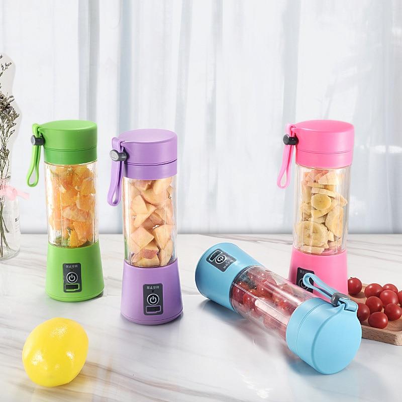 Portable Mixer USB Electric Fruit Juicer Handheld Smoothie Maker Blender Stirring Rechargeable Mini Food Processor Juice CF18