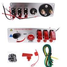 12 v auto led carro de corrida de partida do motor de ignição ligar/desligar push interruptor de alternância painel para modificação do carro