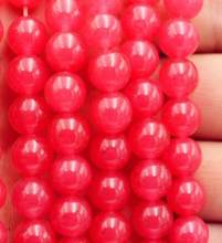 "8MM Tief rosa Rose rot stein Runde Lose Perlen 15""(China)"