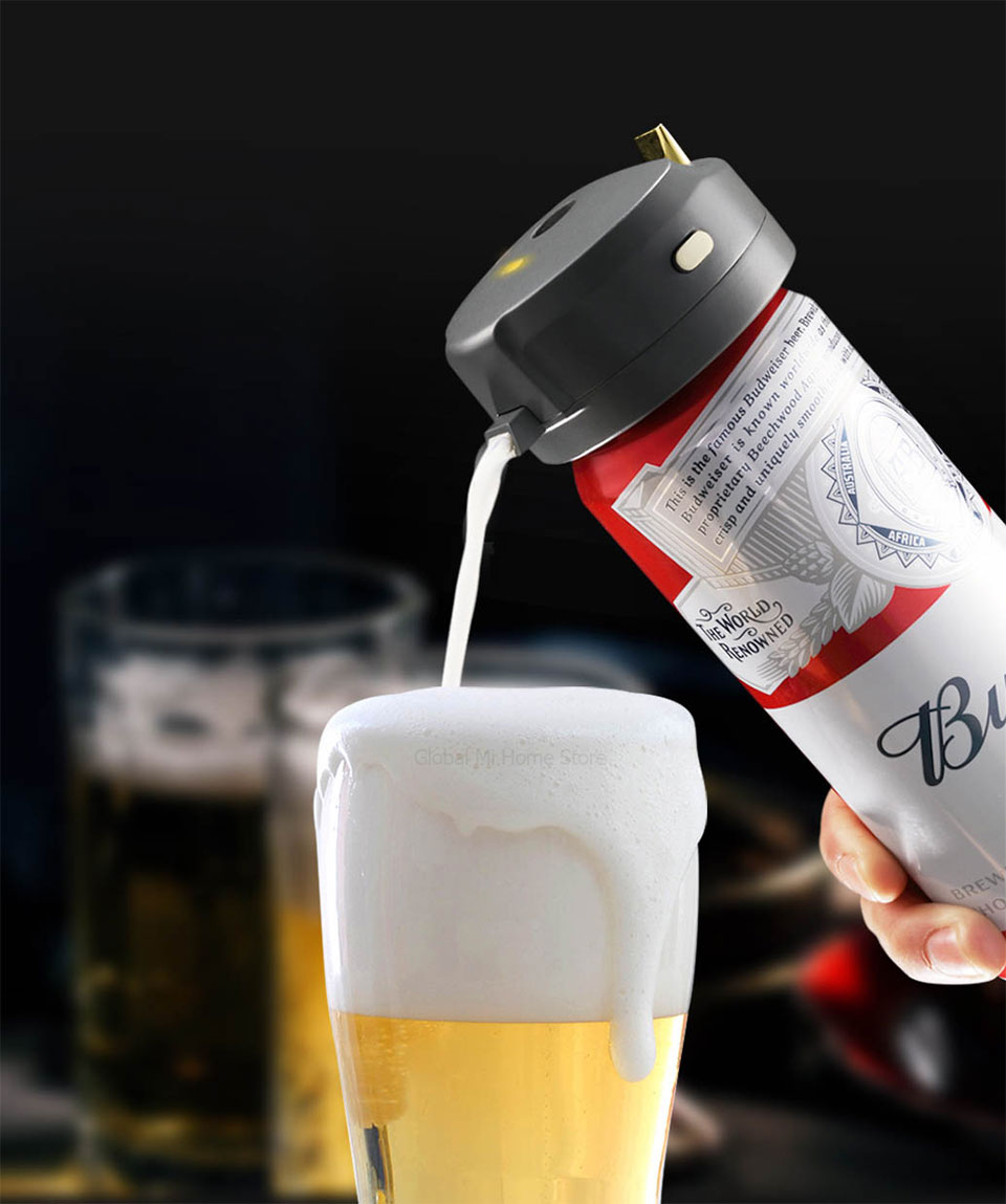 STARCOMPASS Portable Beer Cooler Beer Foam Machine Use With Special Purpose For Bottled and Canned Beers Cabinet