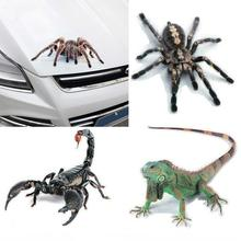 3D Spider Lizard Scorpion Car Sticker 3D animal pattern Vehicle Window Mirror Bumper Decal Decor Water-resistant High stickiness