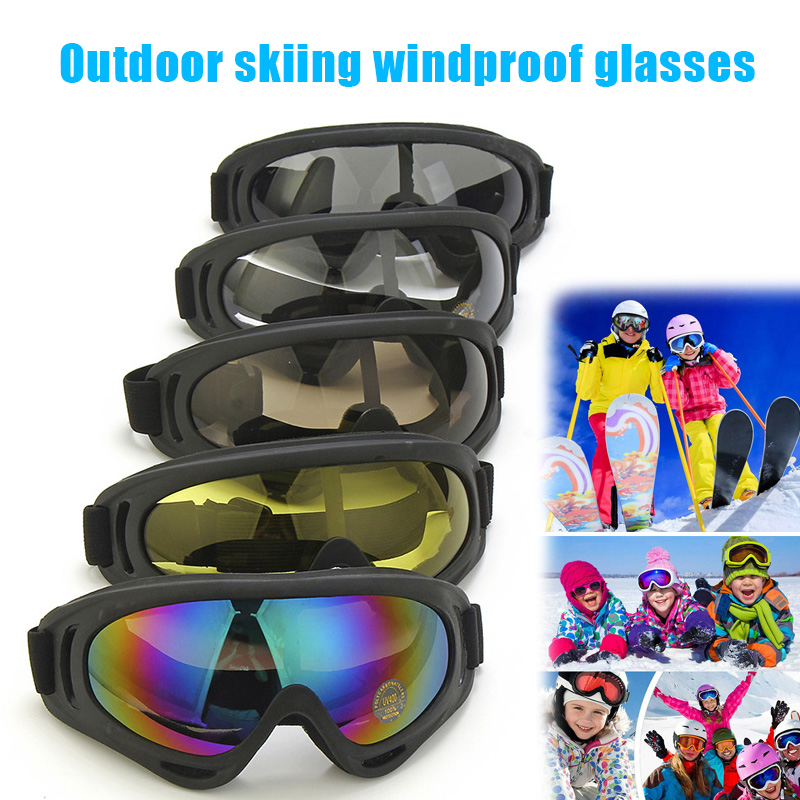 New Ski Goggles Adjustable UV 400 Protective Outdoor Motorcycle Snow Goggles XD88