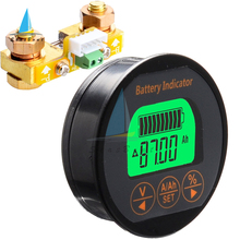 TR16 Waterproof Battery Capacity Indicator DC 8-80V 50A 100A 350A Battery Tester Voltmeter Ammeter Voltage Current Meter
