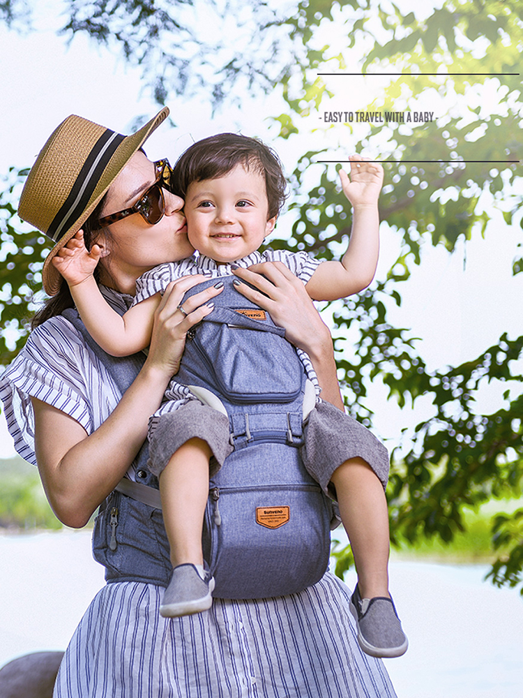 SUNVENO Hipseat Ergonomic Waist-Carrier Front-Facing Baby Travel Infant for 0-36M
