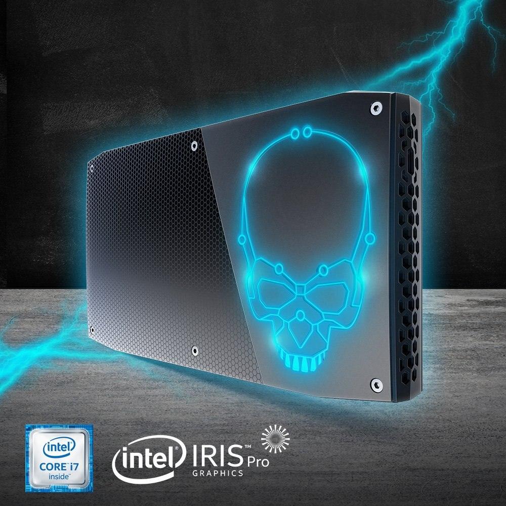 Оригинальный процессор Intel Core NUC cpu i7-6770HQ Мини ПК Windows 10 4K USB 3,0 HDMI wifi BL Gigabit Ethernet офисный игровой настольный компьютер