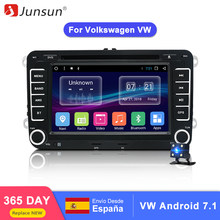 "Junsun 7"" 2 din Car DVD GPS Android radio player Audio Stereo 1024*600 multimedia for Volkswagen VW golf 5 6 touran passat polo(China)"