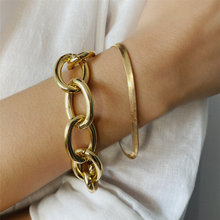 Punk Chunky Chain Bracelet Set for Women Men 2020 Trendy Heavy Metal Thick Chain Armband Bracelet Femme Friends Hand Jewelry(China)