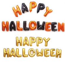 16inch English Spanish Letter Happy Halloween Foil Balloons Feliz Party Decorations Kid Adult Globos  Helium Ballons