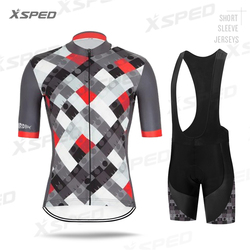 NEW Cycling Clothing Pro Team MTB Clothes Men Short Sleeve Jersey Set summer Road Bike Uniform Triathlon Skinsuit Quick Dry Wear