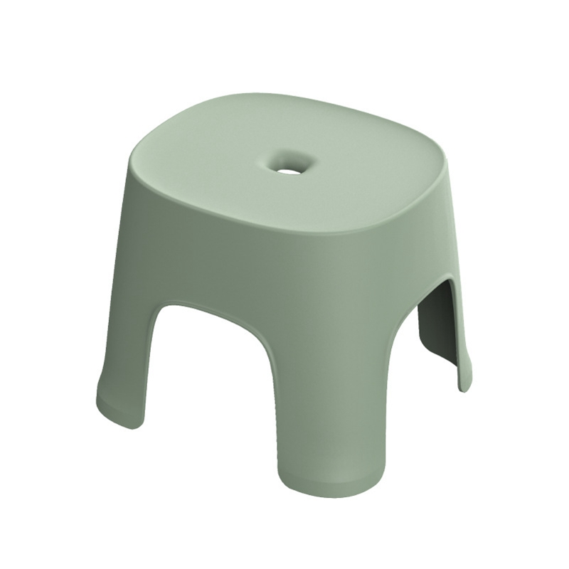 Small Bench Anti-Skid Coffee Table Plastic Simple Stool Adult Thickening Children'S Stool For Shoes Short Stool Green