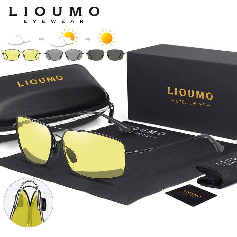 2020 mode Speicher Metall Sonnenbrille Männer Polarisierte Photochrome Tag Nacht Fahren Gläser Frauen Verfärbung Objektiv lentes de sol
