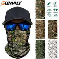3D Árbol de la selva con cuello de camuflaje tubo de escudo facial militar ciclismo caza Airsoft pesca táctica Bandana bufanda hombres mujeres máscara