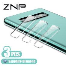 ZNP 3 pièces caméra protecteur pour Samsung Galaxy S8 S9 S10 Plus S10E caméra lentille verre protecteur d'écran pour Samsung Note 8 9 10 Plus