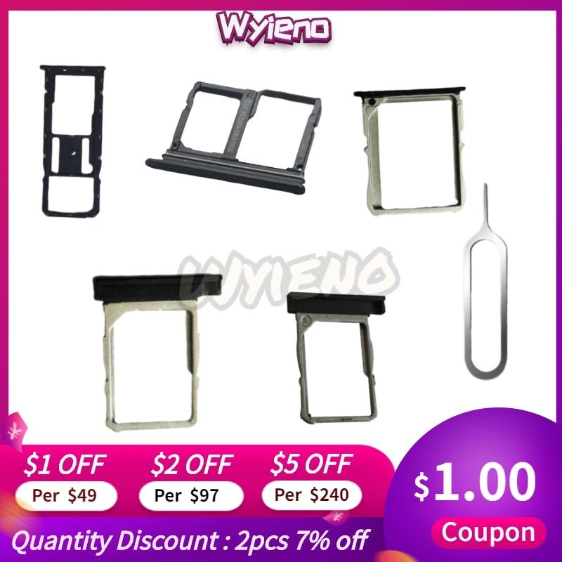 Wyieno SIM Tray For LG X Power 2 II LV7 L63BL K10 Power M320 Screen Cam  Nexus 4 5 5X V30 Q710 Sim Card Holder Slot Adapter Slot