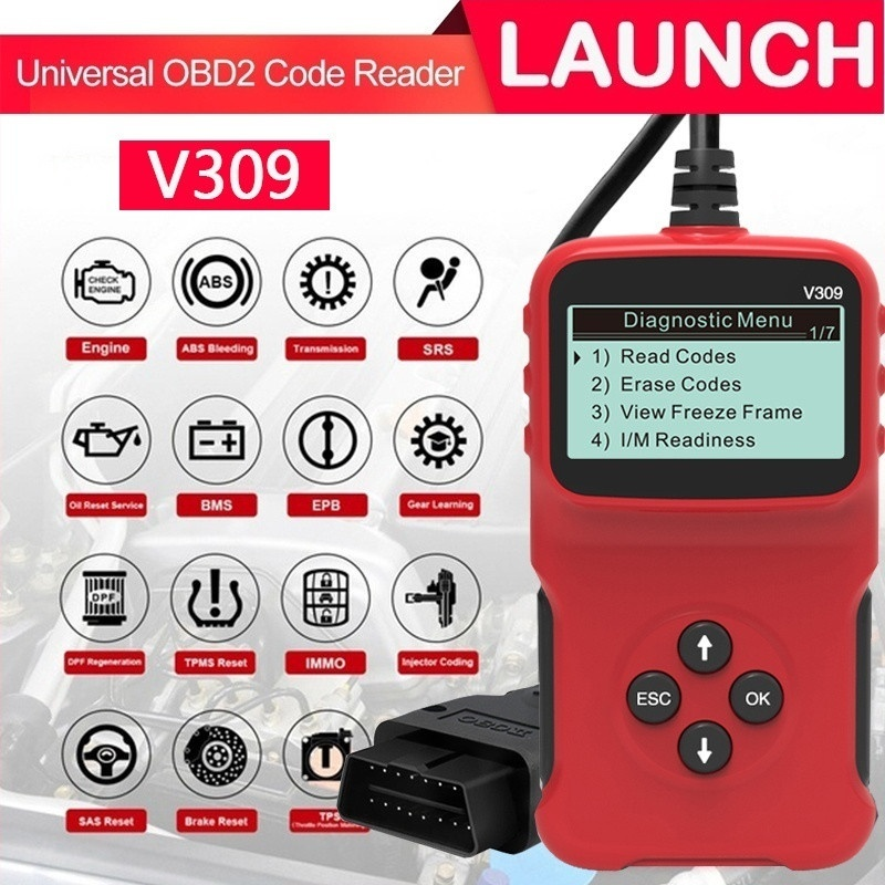Newest V309 OBD2 OBDII Auto Car Diagnostic Scanner Handheld Car Diagnostic Repair Tool Automotive Erase/Reset Fault Codes Reader